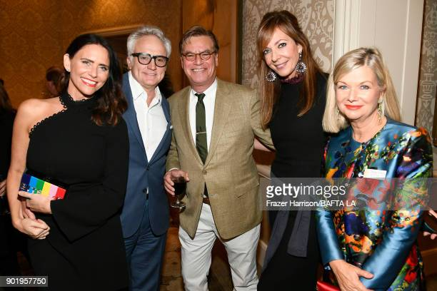 Amy Landecker Bradley Whitford Aaron Sorkin Allison Janney and BAFTA CEO Chantal Rickards attend The BAFTA Los Angeles Tea Party at Four Seasons...