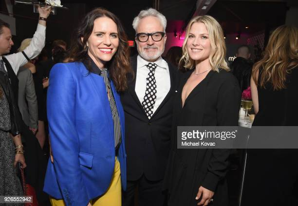 Amy Landecker Bradley Whitford and Ali Larter celebrate with Jane Walker by Johnnie Walker at the 11th Annual Women In Film PreOscar Cocktail Party...