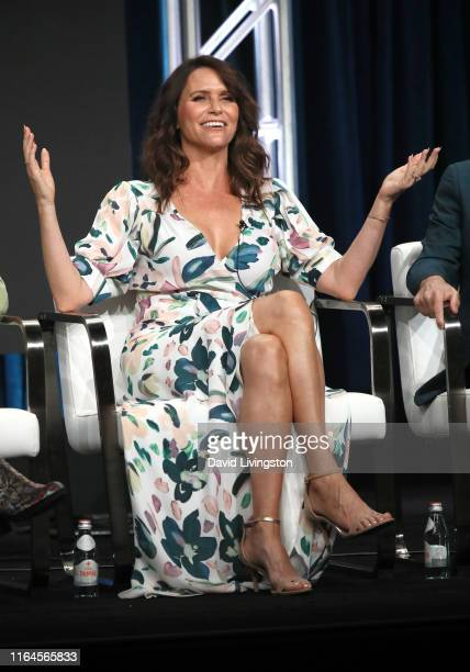 Amy Landecker of 'Transparent' speaks onstage during the Amazon Prime Video segment of the Summer 2019 Television Critics Association Press Tour at...