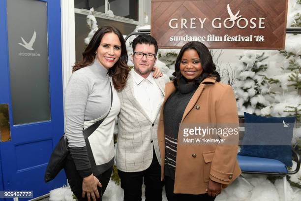 Amy Landecker Silas Howard and Octavia Spencer attend the 'A Kid Like Jake' preparty at Sundance Film Festival 2018 at The Grey Goose Blue Door on...