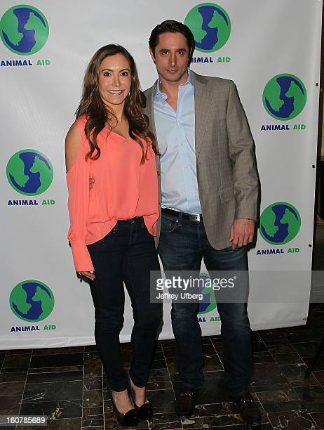 Amy Laurent and Lorenzo Borghese attend Animal AID One Year Anniversary Celebration at Thomson Hotel LES on February 5, 2013 in New York City.