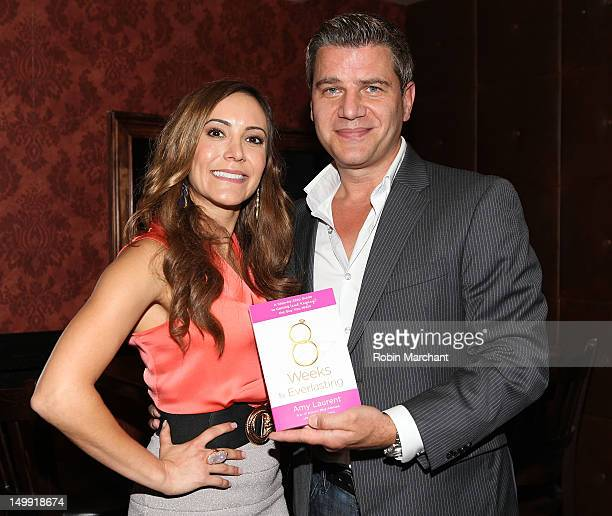 Amy Laurent and Tom Murro attend the 8 Weeks to Everlasting A StepByStep Guide to Getting The Guy You Want book launch celebration at The Hill on...