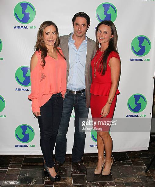 Amy Laurent, Lorenzo Borghese and Georgina Bloomberg attend Animal AID One Year Anniversary Celebration at Thomson Hotel LES on February 5, 2013 in...