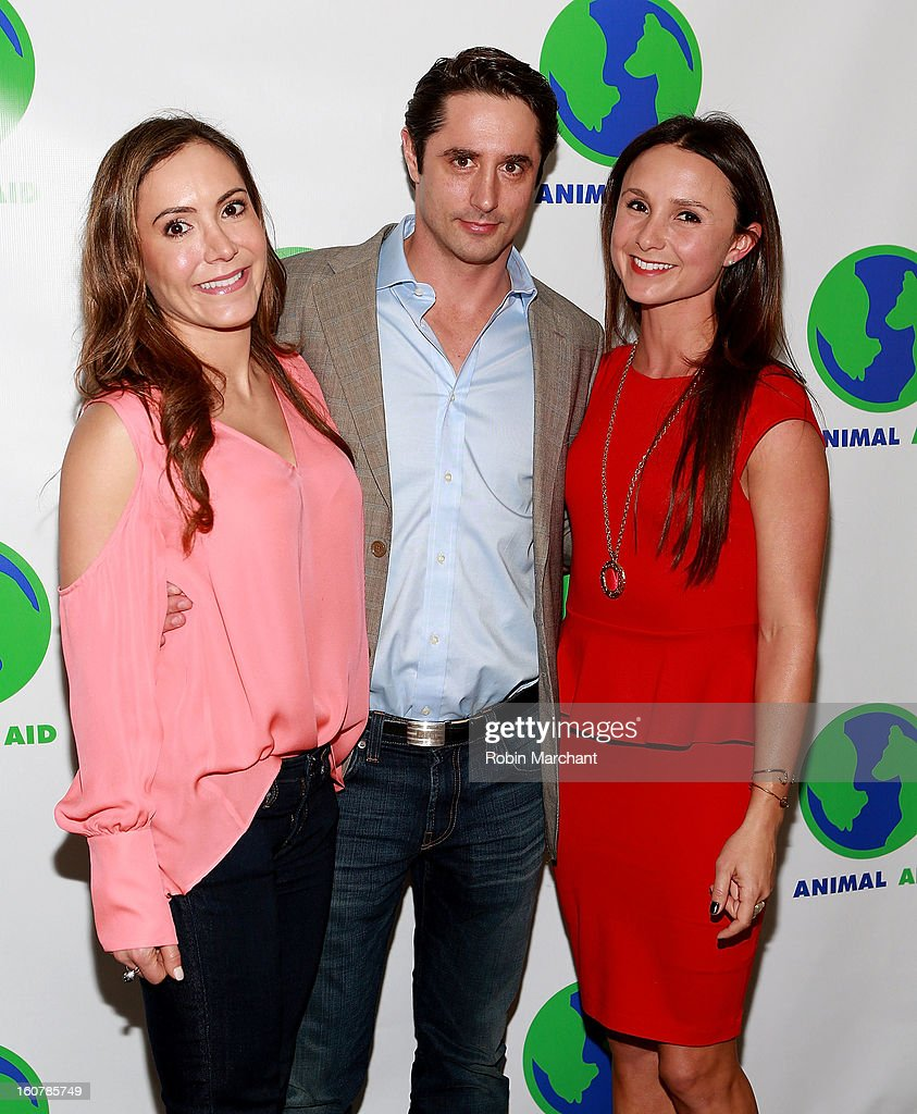 Amy Laurent, Prince Lorenzo Borghese and Georgina Bloomberg attend Animal AID One Year Anniversary Celebration at Thomson Hotel LES on February 5, 2013 in New York City.