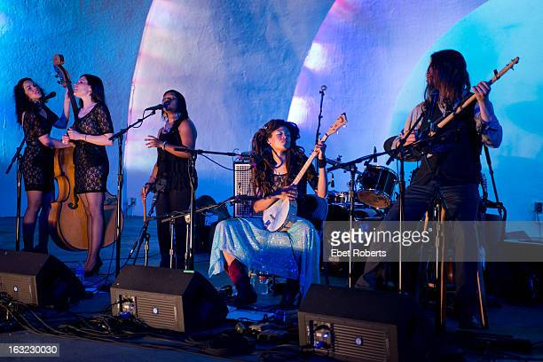Amy LaVere Shannon McNally Sharde Thomas Valerie June and Luther Dickinson of The Wandering perform at the Levitt Shell in Overton Park in Memphis...