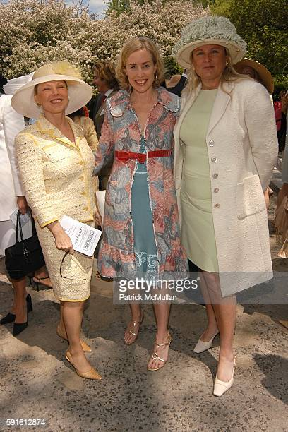 Amy Lawrence Amy Hoadley and Courtney Arnot attend The Women's Committee of the Central Park Conservancy Frederick Law Olmsted Awards Luncheon at The...
