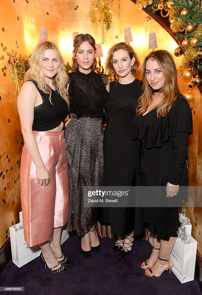 Amy Lawrenson, Alexa Chung, Katherine Power and Hannah Almassi attend the WhoWhatWear UK Launch at Loulou's on November 24, 2015 in London, England.