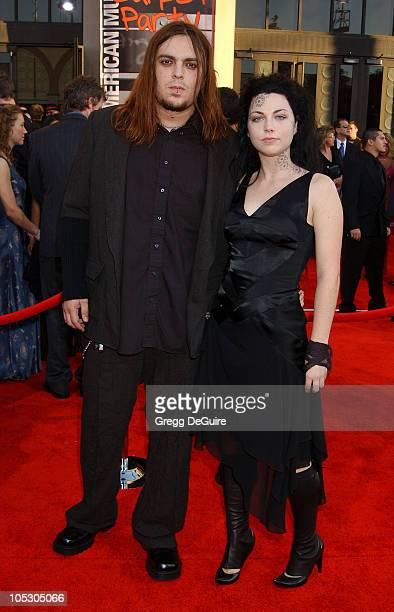 Amy Lee and boyfriend Shaun Morgan during 31st Annual American Music Awards Arrivals at Shrine Auditorium in Los Angeles California United States
