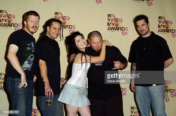 Amy Lee and Evanescence during 2004 MTV Video Music Awards Press Room at American Airlines Arena in Miami Florida United States