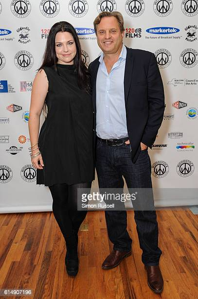 Amy Lee and Michael Mailer attend the Blind premiere at the Woodstock Playhouse on October 13 2016 in Woodstock New York