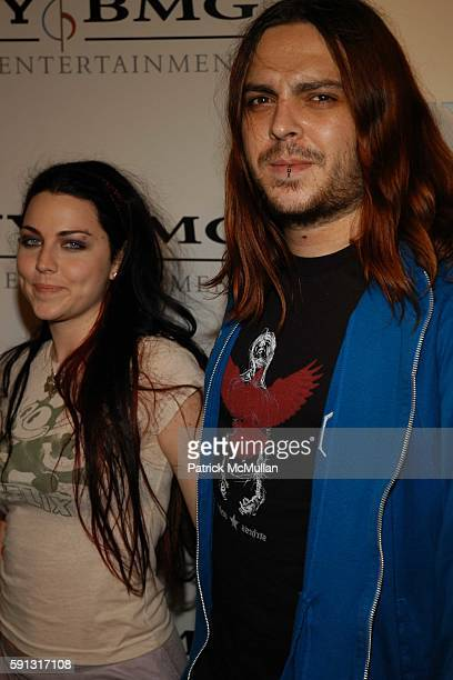 Amy Lee and Shaun Morgan attend Sony BMG Music Entertainment Grammy Party 2005 at Hollywood Roosevelt Hotel on February 13 2005 in Los Angeles...