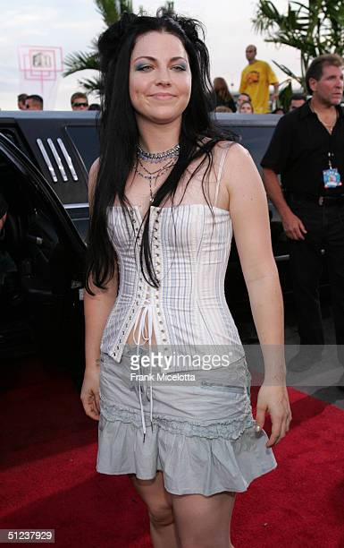 Amy Lee arrives at the 2004 MTV Video Music Awards at the American Airlines Arena August 29 2004 in Miami Florida