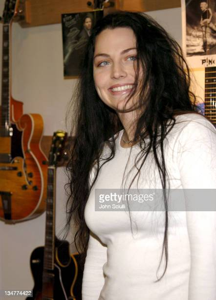 Amy Lee during Gibson Guitar Paint for Pep Charity Event at Gibson Baldwin Showroom in Beverly Hills CA United States