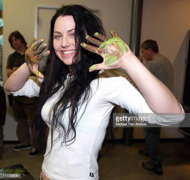 Amy Lee during Gibson Guitar Paint for PEP Charity Event in Los Angeles California United States