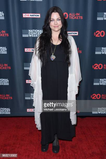 Amy Lee of Evanescence attends Live Nation's celebration of the 4th annual National Concert Week at Live Nation on April 30 2018 in New York City