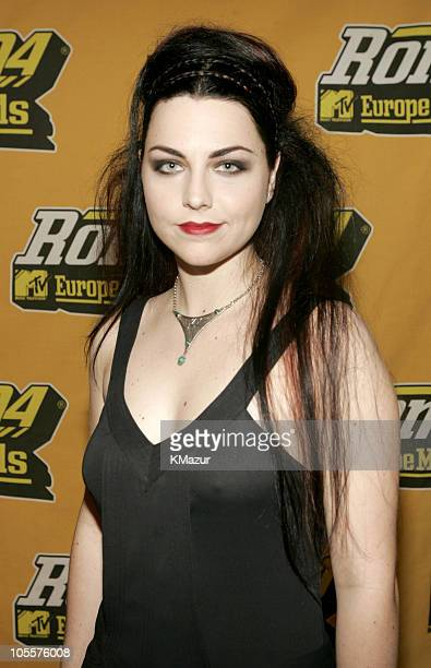 Amy Lee of Evanescence during 2004 MTV European Music Awards Red Carpet at Tor di Valle in Rome Italy