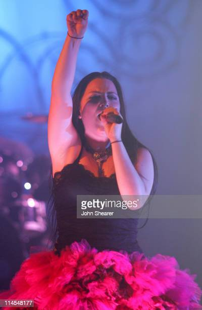 Amy Lee of Evanescence during Evanescence 'The Open Door' Tour 2006 Los Angeles at The Wiltern in Los Angeles California United States
