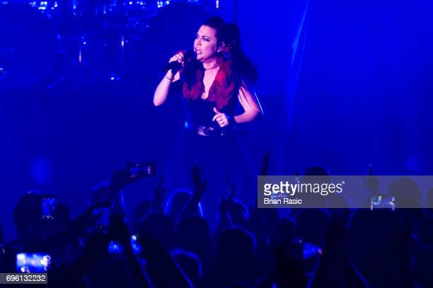 Amy Lee of Evanescence performs at Eventim Apollo Hammersmith on June 13 2017 in London England