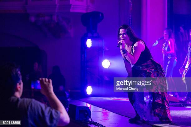 Amy Lee of Evanescence performs at Saenger Theatre Mobile on November 9 2016 in Mobile Alabama