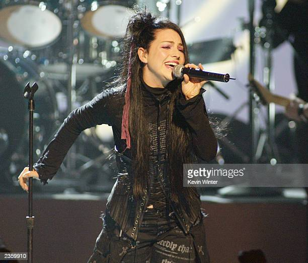 Amy Lee of Evanescence performs at The 2003 Teen Choice Awards held at Universal Amphitheater on August 2 2003 in Universal City California
