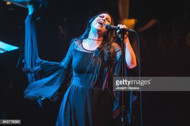Amy Lee of Evanescence performs live on stage at The Royal Festival Hall on March 30 2018 in London England