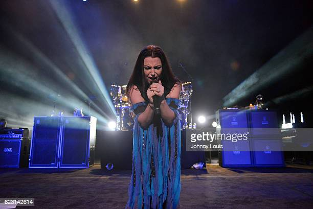 Amy Lee of Evanescence performs on stage at Fillmore Miami Beach on November 13 2016 in Miami Beach Florida