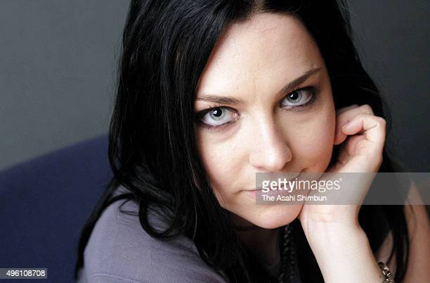 Amy Lee of Evanescence poses for photographs during the Asahi Shimbun interview on January 1 2007 in Tokyo Japan