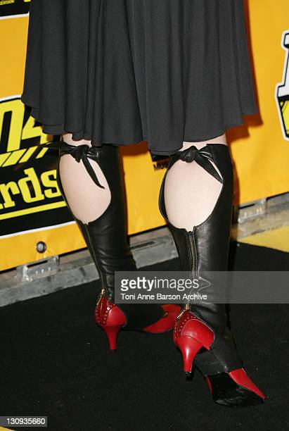 Amy Lee of Evanescence 's Shoes during 2004 MTV European Music Awards Arrivals at Tor di Valle in Rome Italy