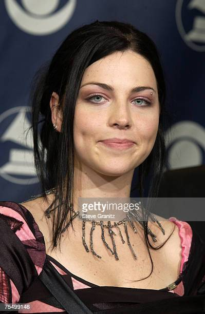 Amy Lee of Evanescence winner of Best New Artist and Best Hard Rock Performance at the Staples Center in Los Angeles California