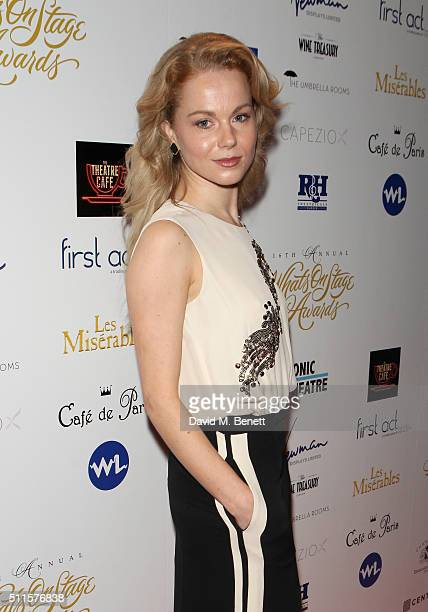 Amy Lennox attends the 16th Annual WhatsOnStage Awards at The Prince of Wales Theatre on February 21 2016 in London England