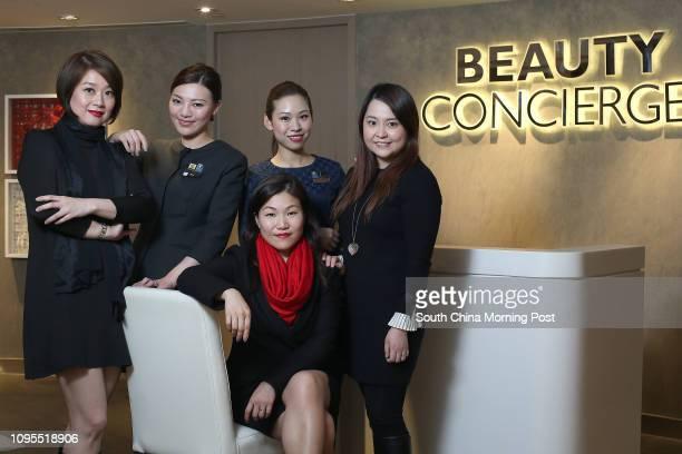 Amy Leung, Elke Lau, Montana Chan, Tracy Ng and Alice Chan of the DFS at Canton Road, Tsim Sha Tsui. 02MAR15
