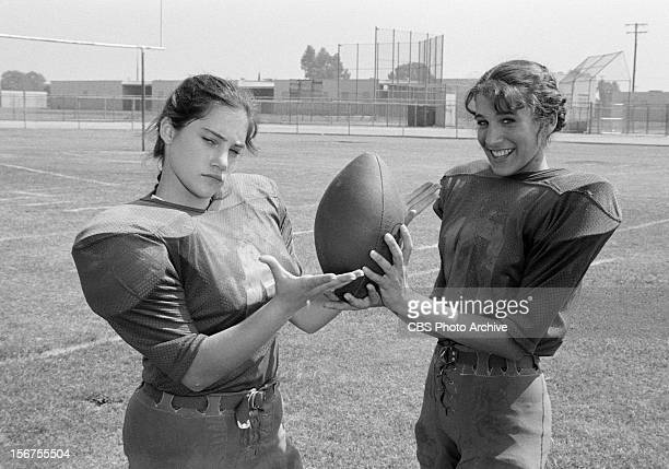 Amy Linker as Lauren Hutchinson and Sarah Jessica Parker as Patty Greene in the 'Square Pigskins' episode of SQUARE PEGS Image dated August 20 1982