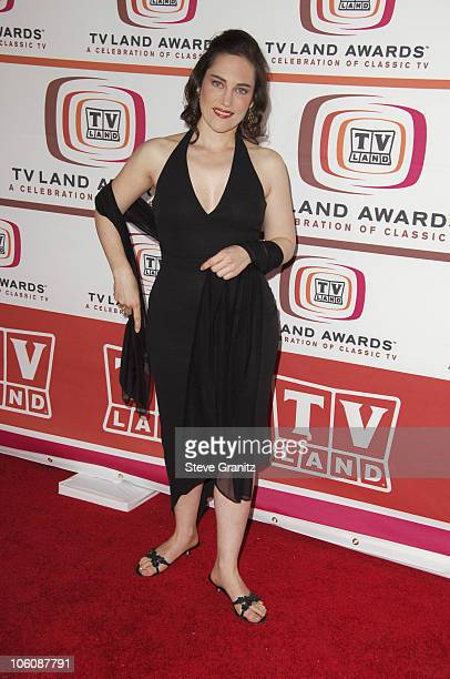 Amy Linker during 4th Annual TV Land Awards Arrivals at Barker Hangar in Santa Monica California United States