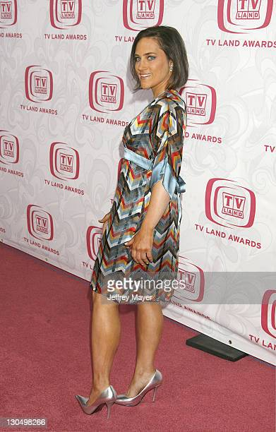 Amy Linker during 5th Annual TV Land Awards Arrivals at Barker Hanger in Santa Monica CA United States