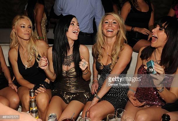 Amy Lynn Dover, Jayde Nicole, Kelly Carrington and Setorii Pond celebrates Jayde Nicole's birthday at Eve Nightclub on February 5, 2010 in Las Vegas,...