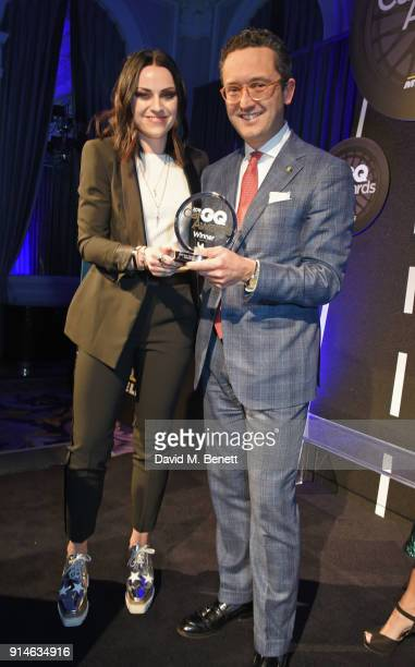 Amy Macdonald and Francesco Balli attend the GQ Car Awards 2018 in association with Michelin at Corinthia London on February 5 2018 in London England