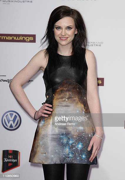 Amy Macdonald arrives for the Echo award 2011 at Palais am Funkturm on March 24 2011 in Berlin Germany