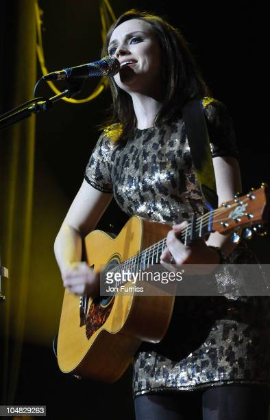 Amy MacDonald attends/ performs at Hard Rock's Pinktober at Indigo at O2 Arena on October 5 2010 in London England