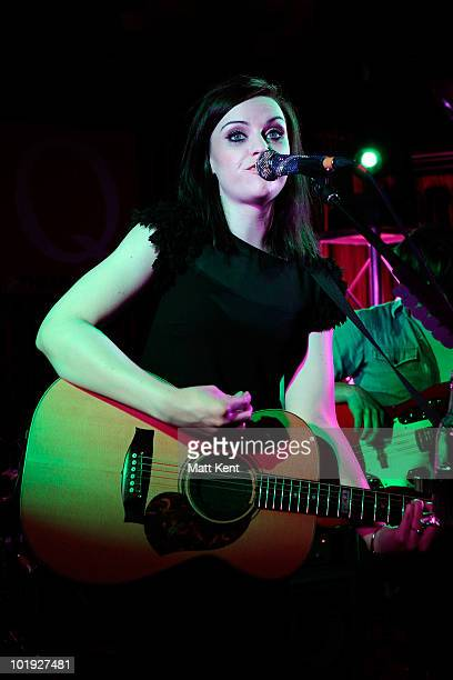 Amy Macdonald performs as part of Q The Music Club at Hard Rock Cafe Old Park Lane on June 9 2010 in London England