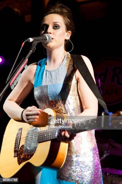 Amy MacDonald performs at Hard Rock Cafe Old Park Lane on February 22 2010 in London England