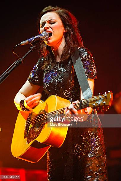 Amy MacDonald performs on stage at Hammersmith Apollo on October 26 2010 in London England