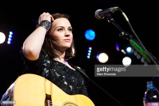 Amy MacDonald performs on stage at ICA on February 2 2010 in London England