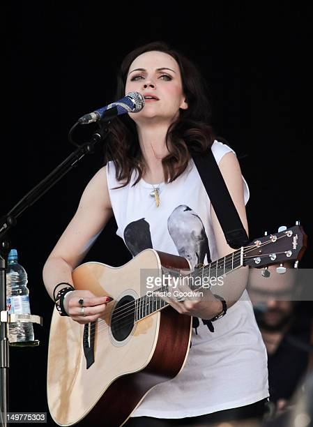 Amy Macdonald performs on stage during BT London Live at Hyde Park on August 3 2012 in London United Kingdom