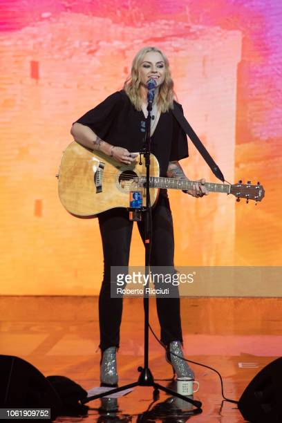 Amy Macdonald performs on stage during 'Radio Forth Awards 2018' at Usher Hall on November 15 2018 in Edinburgh Scotland