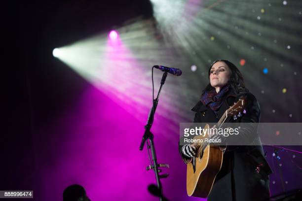 Amy Macdonald performs on stage during Sleep In The Park a Mass Sleepout organised by Scottish social enterprise Social Bite to end homelessness in...