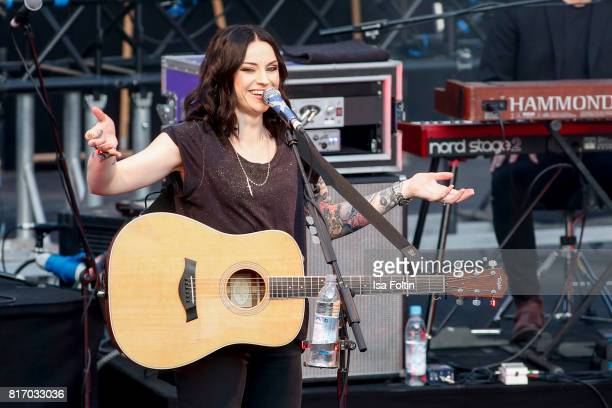 Amy MacDonald performs on stage during the Thurn Taxis Castle Festival 2017 on July 17 2017 in Regensburg Germany