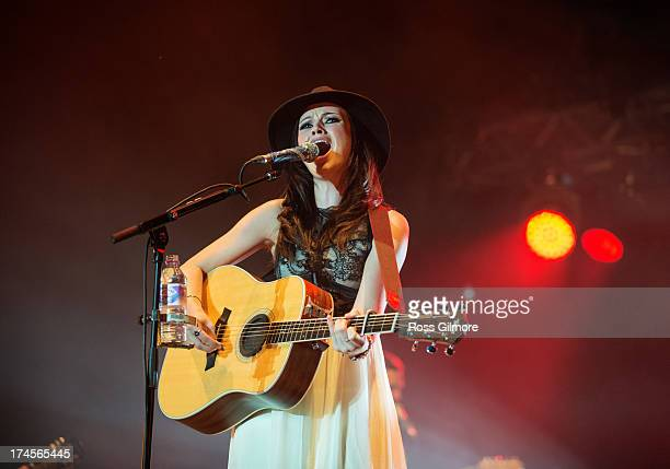 Amy Macdonald performs on stage on Day 2 of Wickerman Festival on July 27 2013 in Dundrennan Scotland