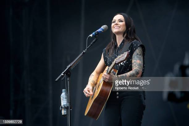 Amy Macdonald performs on the Main Stage on the third day of TRNSMT Festival 2021 on September 12, 2021 in Glasgow, Scotland.