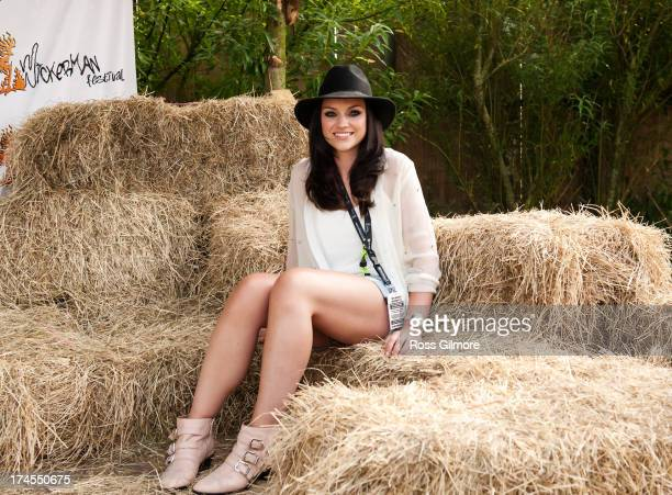 Amy Macdonald poses backstage on Day 2 of Wickerman Festival on July 27 2013 in Dundrennan Scotland