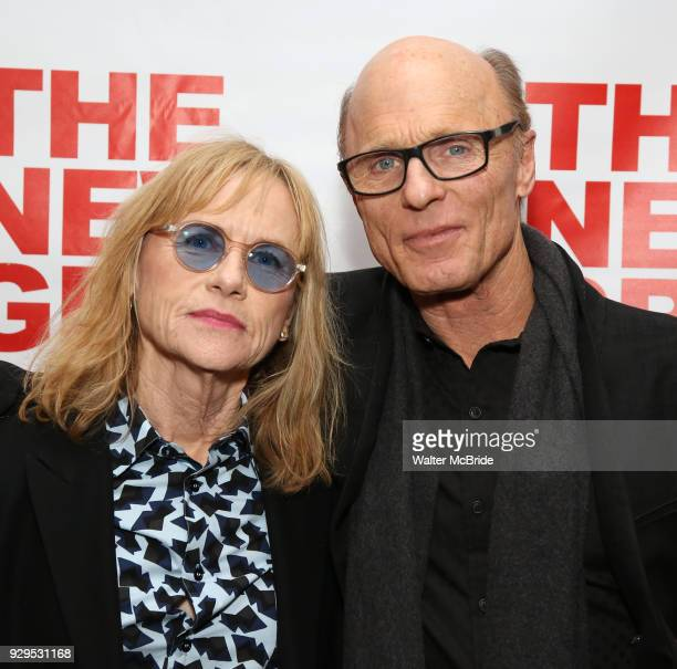 Amy Madigan and Ed Harris attend The New Group presents the New York Premiere Opening Night of David Rabe's for Good for Otto on March 8 2018 at the...